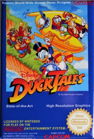 Nintendo Disney Duck Tales Ducktales FRIDGE MAGNET Video Game Box Capcom  NES