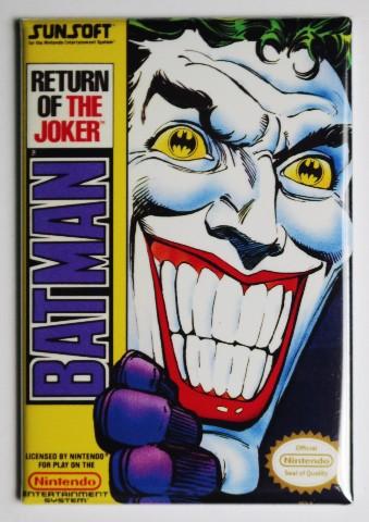 Nintendo DC Comics Batman Return of the Joker FRIDGE MAGNET Video Game Box Classic NES