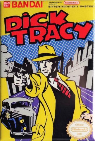 Nintendo Dick Tracy FRIDGE MAGNET Video Game Box Classic NES