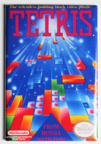 Nintendo Tetris FRIDGE MAGNET Video Game Box Classic NES