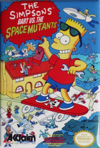 Nintendo The Simpsons Bart Vs The Space Mutants Fridge