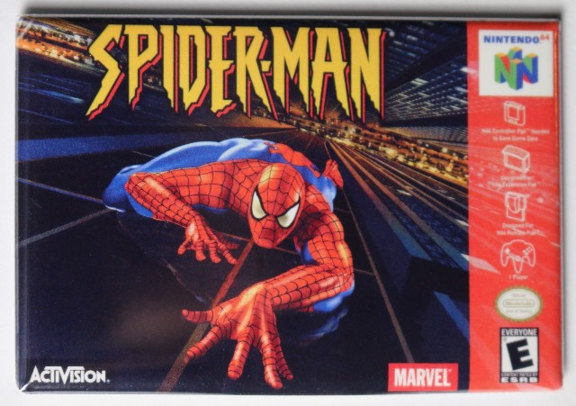 Nintendo Marvel Spiderman FRIDGE MAGNET Video Game Box