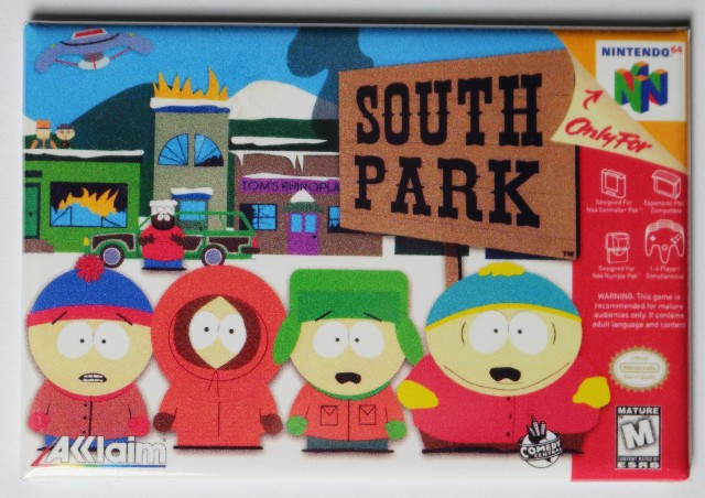 Nintendo 64 South Park The Video Game Fridge Magnet Video