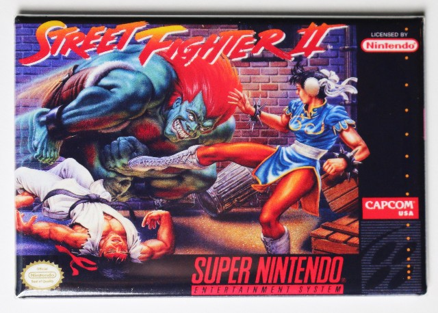 Super Nintendo Snes Street Fighter 2 Fridge Magnet Video
