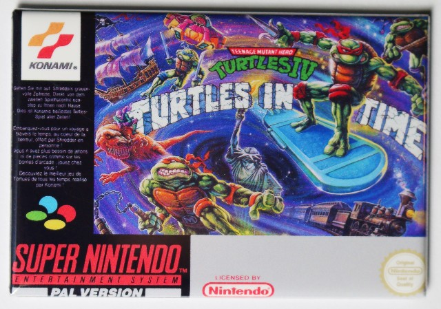 Super Nintendo Tmnt Turtles In Time Fridge Magnet Teenage