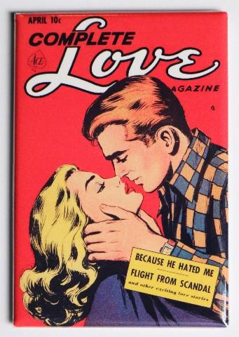 Complete Love Magazine Comic FRIDGE MAGNET Romantic Kiss
