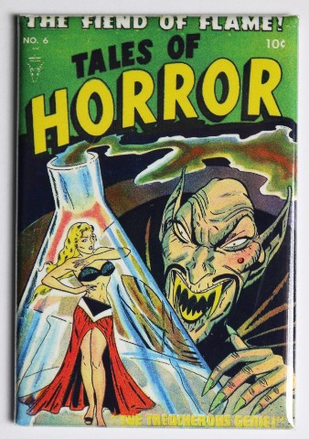 tales of horror no 6 fridge magnet monster comic book 50s