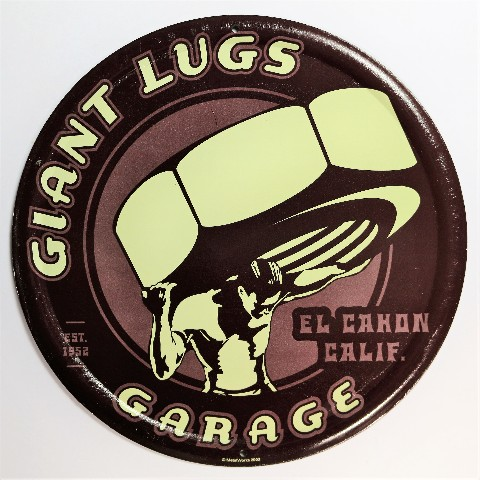 Giant Lugs Garage Tin Metal Sign Semi Truck Auto Mechanic