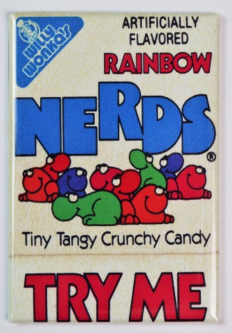 Willy Wonka Rainbow Nerds Box FRIDGE MAGNET Vintage Style Candy 1980s