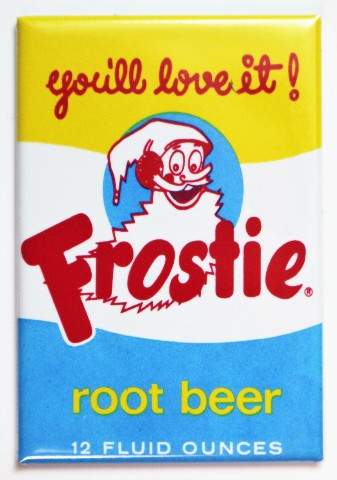 Frostie Root Beer Fridge Magnet Vintage Style Soda Label Pop
