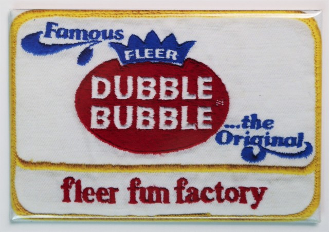 Fleer Bubble Bubble Gum Patch Fridge Magnet Vintage Style