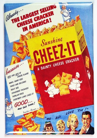 Sunshine Cheez It Vintage Ad Fridge Magnet Kitchen Decor