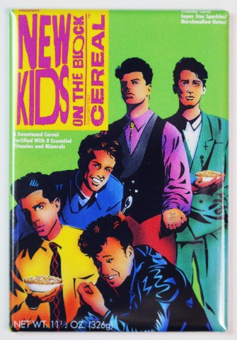 New Kids On The Block Cereal Fridge Magnet Nkotb Kitchen