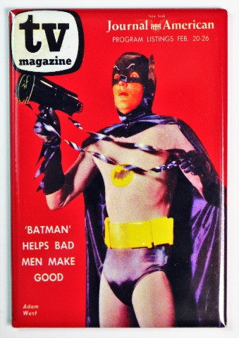 Tv Magazine Adam West Batman Fridge Magnet Super Hero Dc