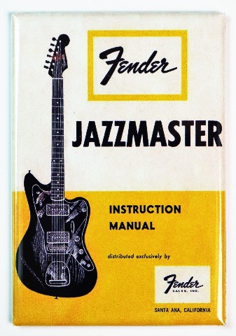 Vintage Fender Jazzmaster Guitar Instruction Manual Fridge
