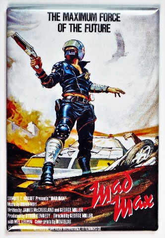Mad Max Movie Poster FRIDGE MAGNET Mel Gibson Sci Fi Theater