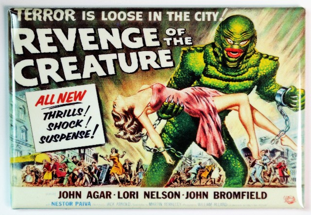 Revenge of the Creature Movie Poster FRIDGE MAGNET Black Lagoon Sci Fi 1950s