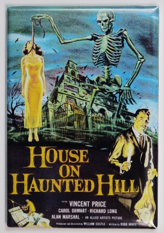 House On Haunted Hill Movie Poster Fridge Magnet Horror