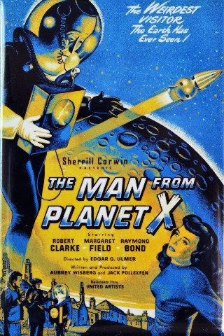 The Man From Planet X Movie Poster Fridge Magnet 1950s Sci