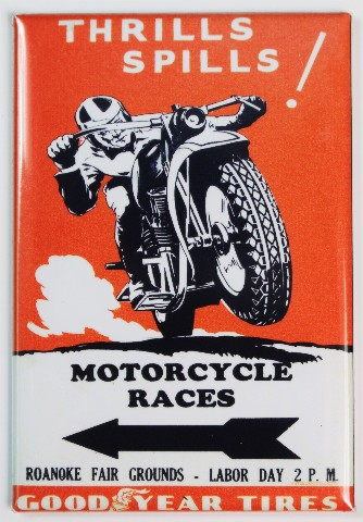 Goodyear Tires Motorcycle Races Fridge Magnet Bike Racer Race