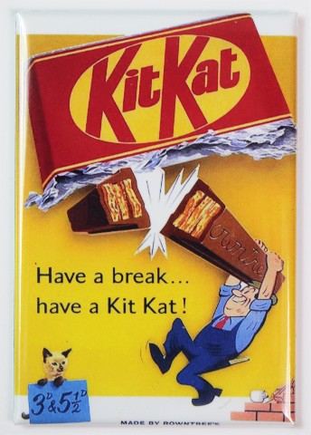 Kit Kat Have A Break Fridge Magnet Candy 1950s Vintage Ad