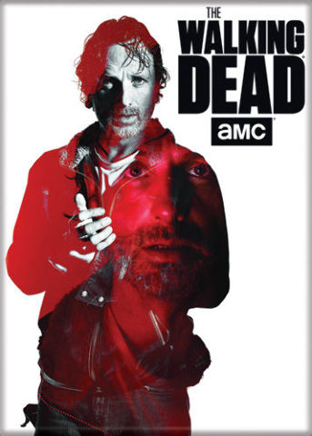 The Walking Dead Rick Grimes FRIDGE MAGNET Carl Daryl Dixon Zombies Negan