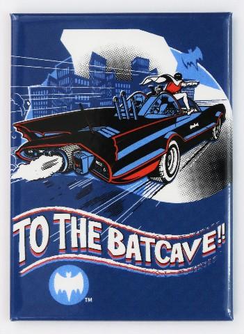 To The Batcave FRIDGE MAGNET Adam West Batman Robin Batmobile DC Comics D24