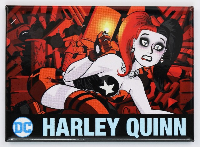 Harley Quinn Fridge Magnet Dc Comics Batman Joker Comic