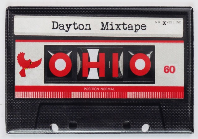 Dayton Ohio Cassette Mix Tape FRIDGE MAGNET UD Gem City
