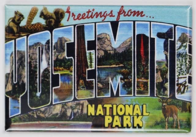 Greetings From Yosemite National Park Postcard FRIDGE MAGNET California El Captain