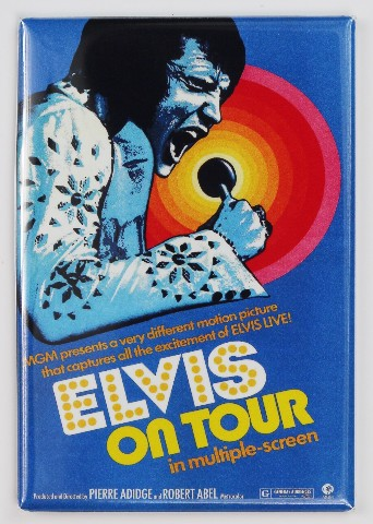 Elvis On Tour Concert Movie Poster FRIDGE MAGNET Elvis Presley Gig Poster