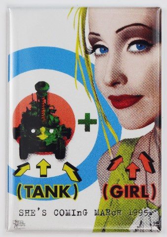 Tank Girl Movie Poster FRIDGE MAGNET 90's Alternative Comic Book Movie Sci FI