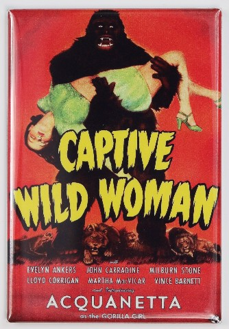 Captive Wild Woman Movie Poster Fridge Magnet Classic 50 S
