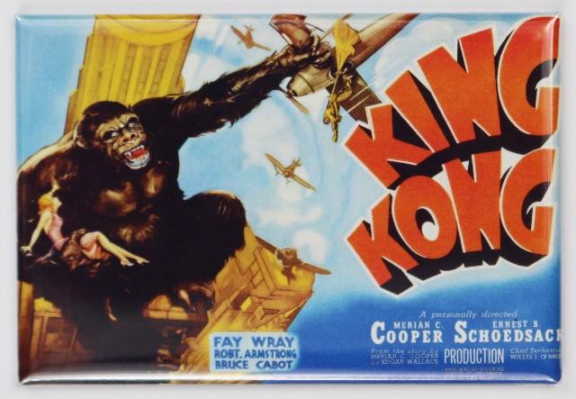 1933 King Kong Movie Poster FRIDGE MAGNET Monster Horror Sci Fi