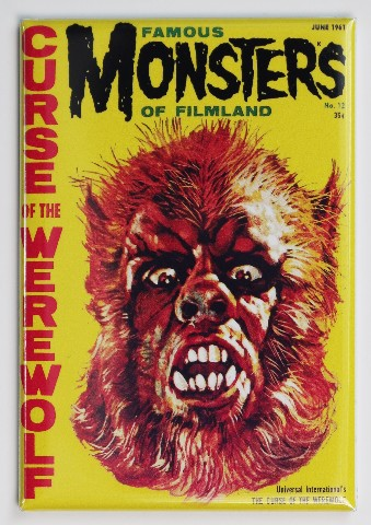Famous Monsters of Filmland Werewolf FRIDGE MAGNET Monster Movies