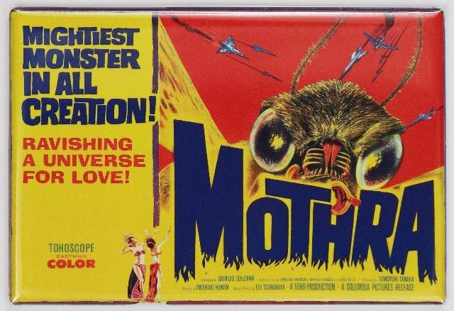 Mothra Movie Poster FRIDGE MAGNET Godzilla 1950s Sci FI Monster Film