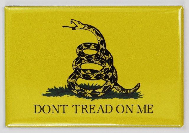 Dont Tread on Me Gadsden Flag FRIDGE MAGNET Tea Party Political Rally