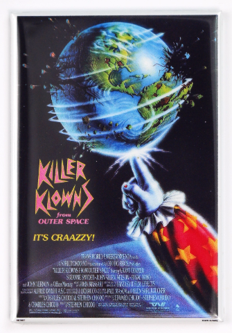 Killer Klowns From Outer Spacer Movie Poster FRIDGE MAGNET Clown Horror Sci Fi