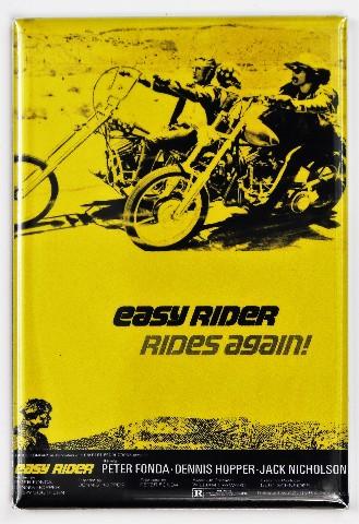 Easy Rider Rides Again Movie Poster FRIDGE MAGNET Fonda Hopper Motorcycle Bike Harley