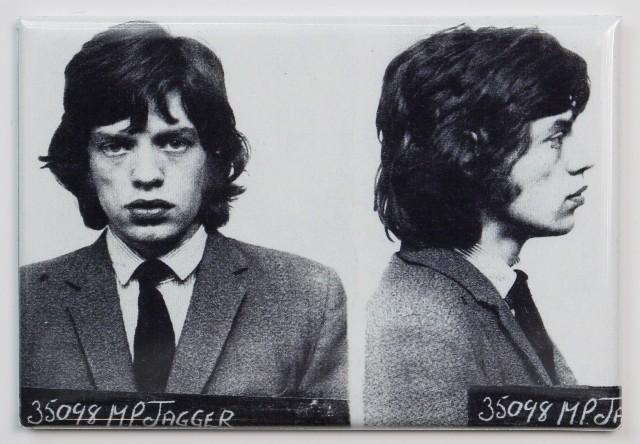 Mick Jagger Mugshot FRIDGE MAGNET Mug Rolling Stones Rock Music Jail