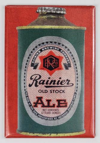 Rainier Brewing Cone Top Beer Can FRIDGE MAGNET Washington Ale