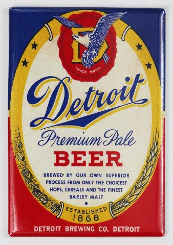 Detroit Beer FRIDGE MAGNET Detroit Brewing Co. Michigan