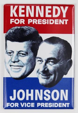 John F Kennedy For President 1960 Election FRIDGE MAGNET Campaign Poster JFK Johnson