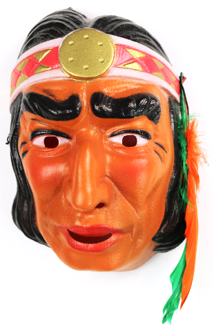 Vintage Indian Halloween Mask Cesar 1970 S 80 S Costume