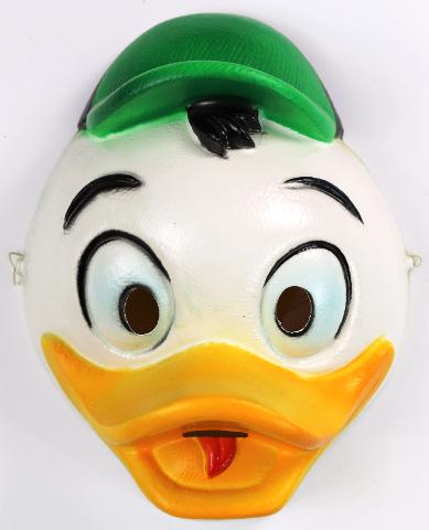 Vintage Walt Disney Louie Duck Tales Halloween Mask 1991 Scrooge Dark Wing