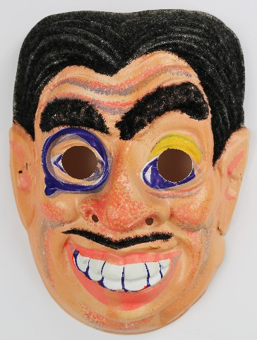 Vintage Halloween Mask Mad Sciencetist Magician Gypsy 1970