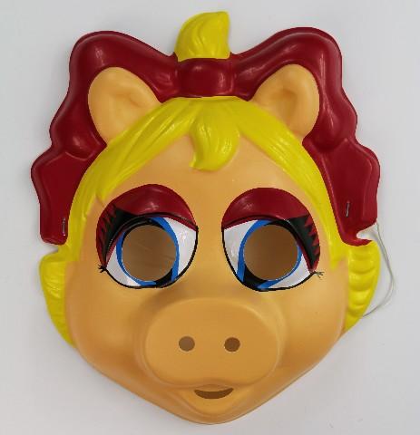 Vintage Miss Piggy The Muppets Halloween Mask Ben Cooper Henson Kermit Y056