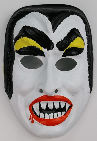 Vintage Dracula Halloween Mask Horror Monster Vampire