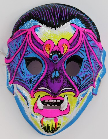 Vintage Vampire Halloween Mask Horror Monster Vampiro Bat
