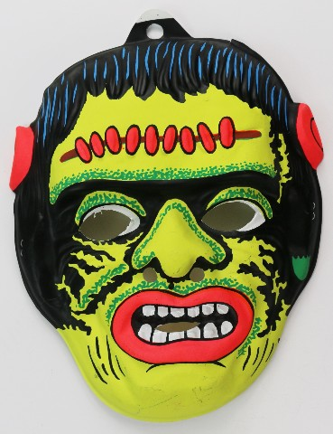 Vintage Frankenstein Halloween Mask Universal Monsters 60